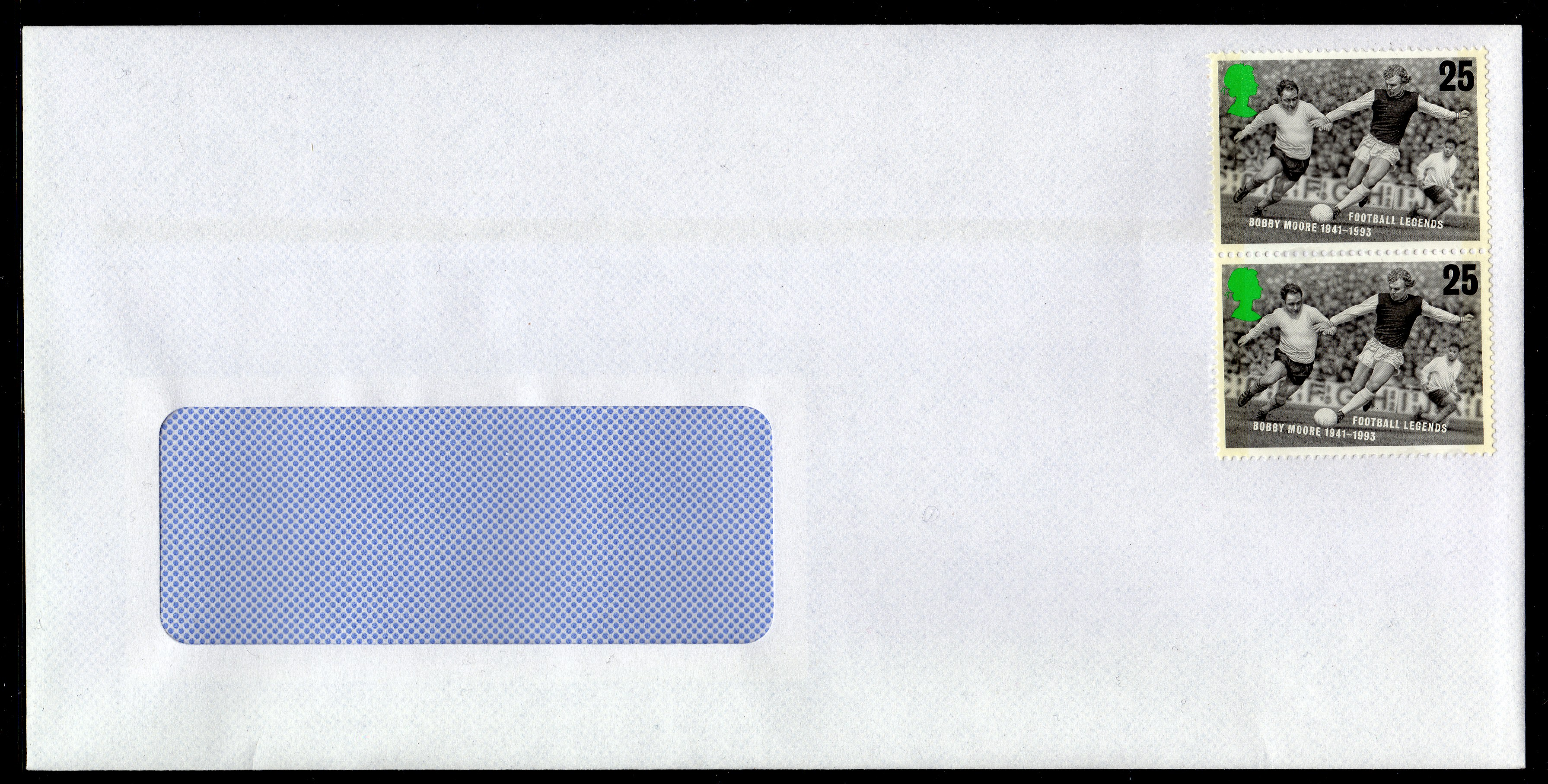 100 2nd class value stamps on envelope