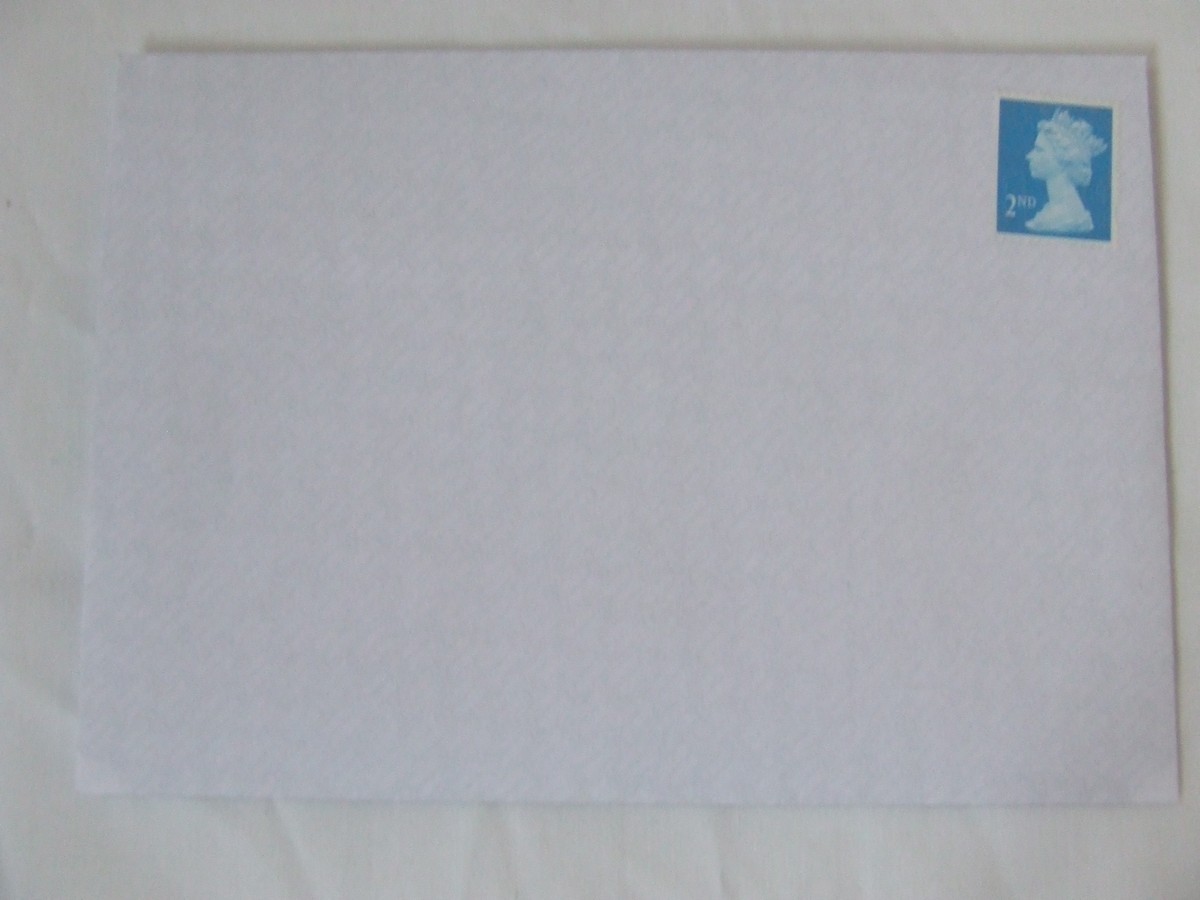 100 2nd class stamps on A6 envelope