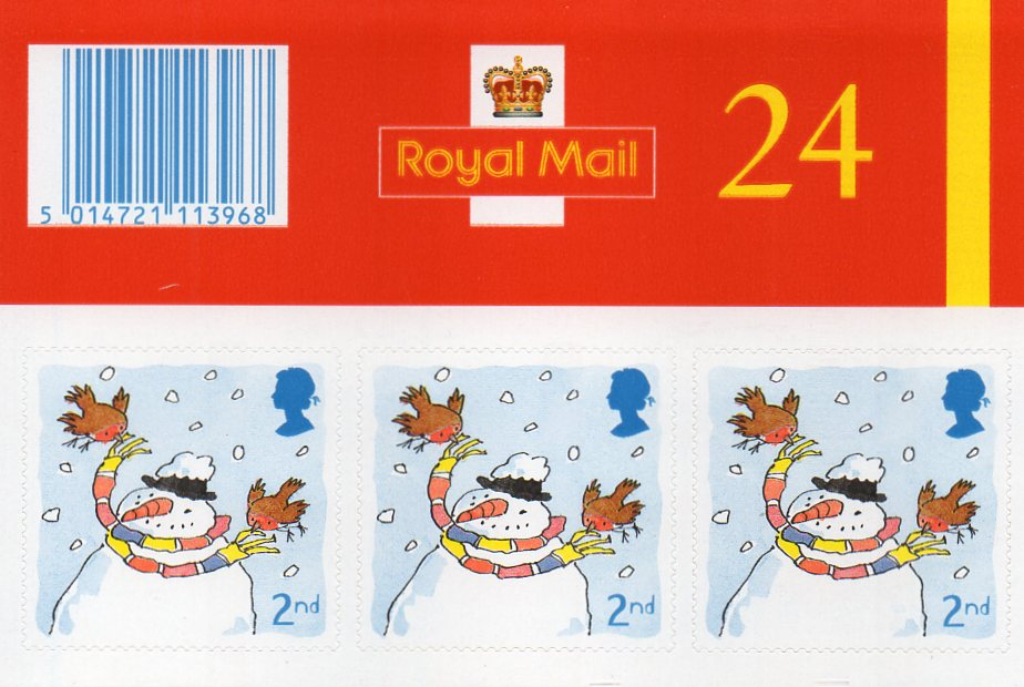 48 2nd class self adhesive stamps